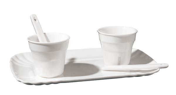 Seletti Estetico Quotidiano Coffee Set 2 Cups 2 Stirrers And 1 Tray