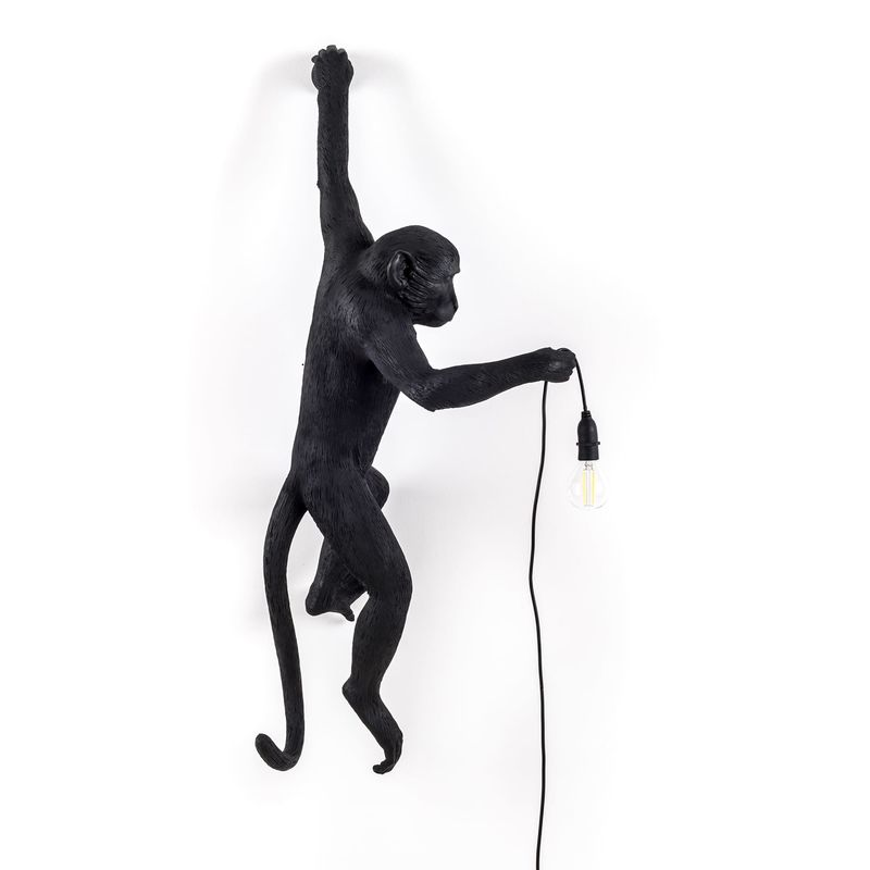 Seletti Hanging Monkey Lamp Black Outdoor